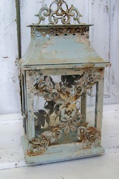 Glass and metal lantern display cabinet case by AnitaSperoDesign, $150.00