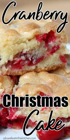 Cranberry Christmas Cake Cranberry Recipes, Holiday Recipes, Christmas Recipes, Christmas Ideas, Christmas Cranberry Cake, Cranberry Crumb Cake, Cranberry Dessert, Cranberry Bread, Holiday Treats