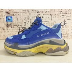 534a6c7adf92 Buy Best Balenciaga Triple S Sneaker Blue Yellow Balenciaga Shop Sneakers  2016