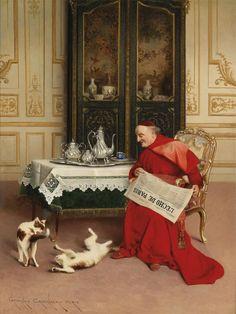 by Belgian Painter Georges Croegaert 1848-1923