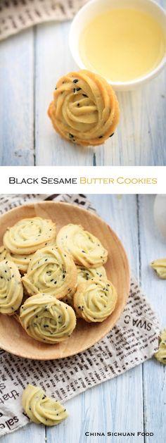 black sesame butter cookie