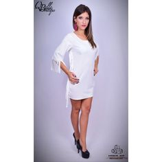 Rochie alba cu franjuri Cold Shoulder Dress, White Dress, Dresses For Work, Fashion, Moda, La Mode, Fasion, Fashion Models, Trendy Fashion