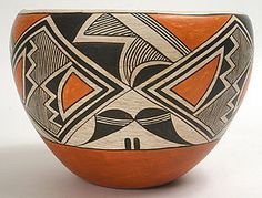 Lucy Martin Lewis Acoma Pueblo pottery bowl or olla (item #975760)
