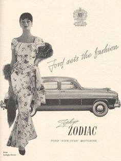 Art Print - Ford Zephyr Zodiac Advert - 1955 by Vintage Magazine Company, Vintage Bikes, Vintage Cars, Vintage Photos, Vintage Stuff, Ford Zephyr, Poster Prints, Art Prints, Us Cars
