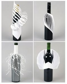 PACKAGING AND PAPER ENGINEERING BY DESIGN STUDENTS Wrapping Gift, Gift Wraping, Creative Gift Wrapping, Wrapping Ideas, Wine Bottle Crafts, Bottle Art, Wrapped Wine Bottles, Wine Bottle Design, Paper Engineering