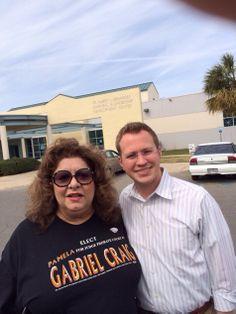 With Chris Forbrich at Las Palmas. . Elect Pamela Gabriel Craig for Judge Probate Court #1.