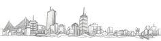 boston skyline drawing