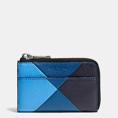 Coach Malaysia Official page|ZIP KEY CASE IN PATCHWORK PEBBLE LEATHER