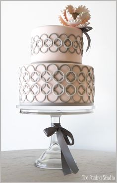{Gray and Pink Peony Cake} Cake Design by The Pastry Studio: Daytona Beach, Fl