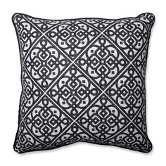 Lace It Up Ebony Perfect Throw Pillow