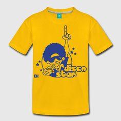 Disco Star kid's T-shirt.  #disco #Tshirt #Spreadshirt #Cardvibes #Tekenaartje #SOLD