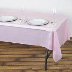 x Pink Thick Disposable Plastic Vinyl Picnic Rectangular Tablecloth Damask Tablecloth, Plastic Tablecloth, Tablecloths, Plastic Tables, Plastic Table Covers, Pink Wedding Decorations, Baby Shower Decorations, Waterproof Tablecloth, Solid Shapes