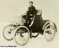 1898 James W Packard driving his first Packard. NY 294 X 6-6
