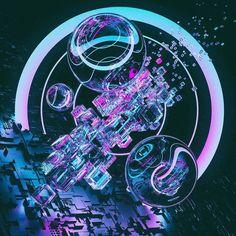 1.2.2016 - Reboot #Cinema4D #C4D #ArnoldRenderer #Abstract #Neon #3D #Render #Digital #Art #Design #Everyday by aspenexcel