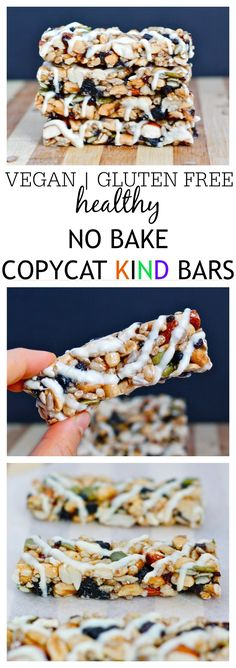 Healthy {NO BAKE} Copycat KIND Bars- 1 bowl and 10 minutes to whip up- Easier, cheaper AND customisable- They trump the store bought version!