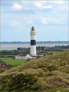 Leuchtturm Kampen スルト島の灯台、ドイツの北海、シュレスウイッグ・ホルシュタイン州、