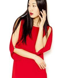 2c6f0e1c28d1a Robe fluide épaules ajourées rouge Camaïeu 2016 Dernières Tendances Mode,  Veste Femme, Vêtements Femmes