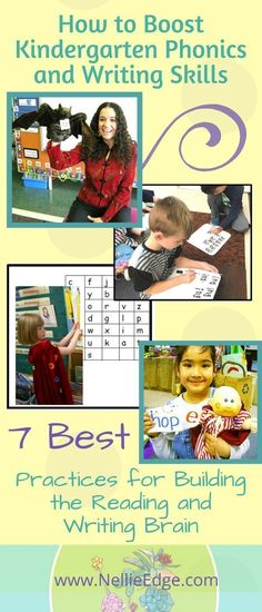 7 best practices for ABC Phonics mastery and writing proficiency. Build the reading writing brain in kindergarten. Free articles, strategies video clips from Nellie Edge Kindergarten Seminars Workshops. Phonics Song, Phonics Lessons, Kindergarten Phonics, Kindergarten Reading, Phonics Reading, Reading Mastery, Guided Reading Lessons, Writing Strategies, Writing Skills