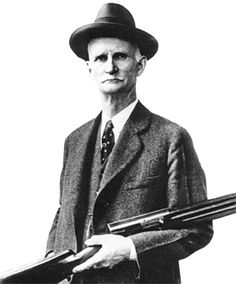 John Moses Browning (January 21, 1855 - Novenber 26, 1926) was born in Ogden, Utah, was an American firearms designer who developed many varieties of firearms, cartridges, and gun mechanisms, many of which are still in use around the world. He is arguably the most important figure in the development of modern automatic and semi-automatic firearms and is credited with 128 gun patents. He made his first firearm at age 13 in his father's gun shop, and was awarded his first patent on October 7, 1...