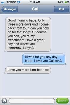 Calum hood text hiiiii can i get a fake text message with calum