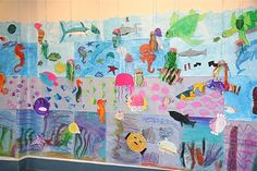 Come SEA what we've been learning. Sealife mural.