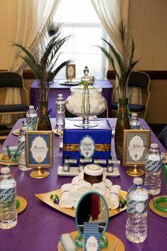 Egyptian Decorating for Party | Egyptian Spa Party via Kara's Party Ideas | Kara'sPartyIdeas.com # ...