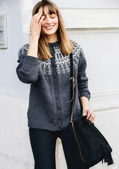 Rygja Ladies Cardigan Pattern free as a refund if yarns for garment purchased at the same time. Sleeveless Cardigan, Lace Cardigan, Cardigan Pattern, Striped Cardigan, Crochet Cardigan, Fair Isle Knitting Patterns, Knitting Designs, Knitting Ideas, Hooded Jacket