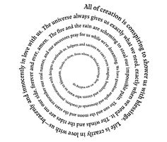 Love the spiraling of the text. Pronoia by Rob Brezsny - All of creation is conspiring to shower us with blessings . Pray For Us, Art Graphique, Optical Illusions, Savior, Astrology, Universe, Make It Yourself, Words, Wisdom