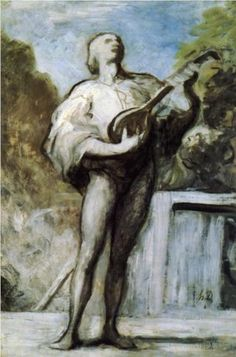 The Troubadour - Honore Daumier