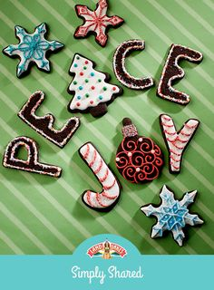 Deep, dark chocolate dough makes classic Christmas cookies even more tempting. Use your creativity to decorate these for the holidays!