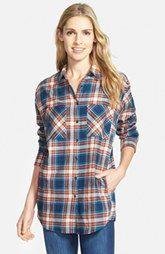 Sandra Plaid Cotton Flannel Boyfriend Shirt