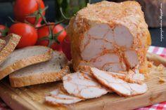 "moje pasje: Szynka drobiowa ""lamparcia"" z szynkowara Polish Recipes, Food Design, Camembert Cheese, Ale, Food And Drink, Appetizers, Homemade, Snacks, Meat"