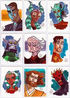 Star Wars sketch cards 2014 by Chad73.deviantart.com on @deviantART
