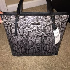 "Nine West Faux Snakeskin Bag Brand New!!!!  Faux snake skin bag. 14"" x 9.5"". Nine West Bags"