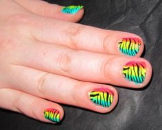 Bright Funky Nails