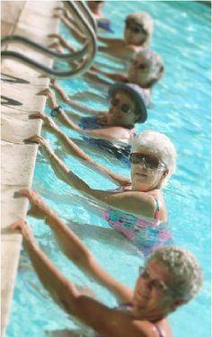 My new workout buddies! Water Aerobics!