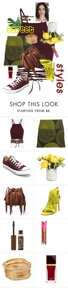 """""""#StreetStyle"""" by dominique-boiche ❤ liked on Polyvore featuring Coline, Converse, Diane Von Furstenberg, Steve Madden, Rimmel, Jeffree Star and Tom Ford"""