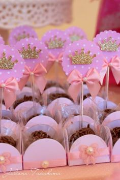 Princess Birthday Planning Ideas Supplies Idea Cake Cupcakes Disney Princess Party via Kara's Party Ideas Princess Theme Party, Disney Princess Birthday, Baby Shower Princess, Girl Birthday, Birthday Parties, Birthday Crowns, Princess Cupcakes, Party Decoration, Birthday Decorations