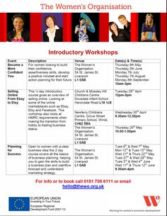 Course in business planning, intro to selling online and becoming a more confident you available.