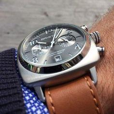 #mybriston #briston #clubmaster #classic #steel #chronograph #grey #sunray dial ©Boldlabels