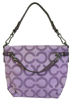 Coach Signature Purple Op Art Sateen Brooke Handbag - Coach Handbags - Love it!!!