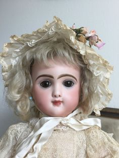 RARE Paris France French Antique Bisque Jumeau closed mouth Doll ALL ORIGINAL