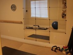 Mirrors for exercise room
