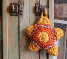 Hand Knit Star Sachet Ornament Lavender and by AdobeHouseVintage, $14.00