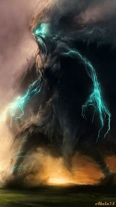 Fantasy storm warrior