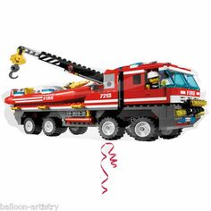 Lego City Fire Engine Shaped Jumbo Foil Balloon (Red) Party Accessory *** Find out more about the great product at the image link. (This is an affiliate link) Lego City Fire, Lego Fire, Party City Balloons, Birthday Balloons, Balloon Party, Camouflage Party, Lego Birthday Party, 12th Birthday, Birthday Gifts