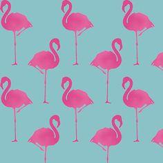 Flamingo-Schablone-Tapete-Effekt-Dekor-Farbe-Wiederverwendbar-Wand-Kunst