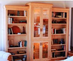 Horizontal Dovetail Bookcase | Wooden Furniture And Brookline Massachusetts