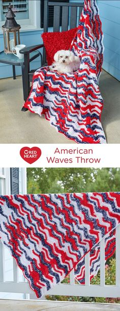 American Waves Throw