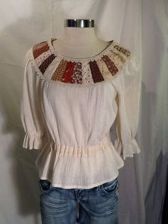 Vintage handmade top blouse boho hippie by Glassthatrocks on Etsy, $28.00